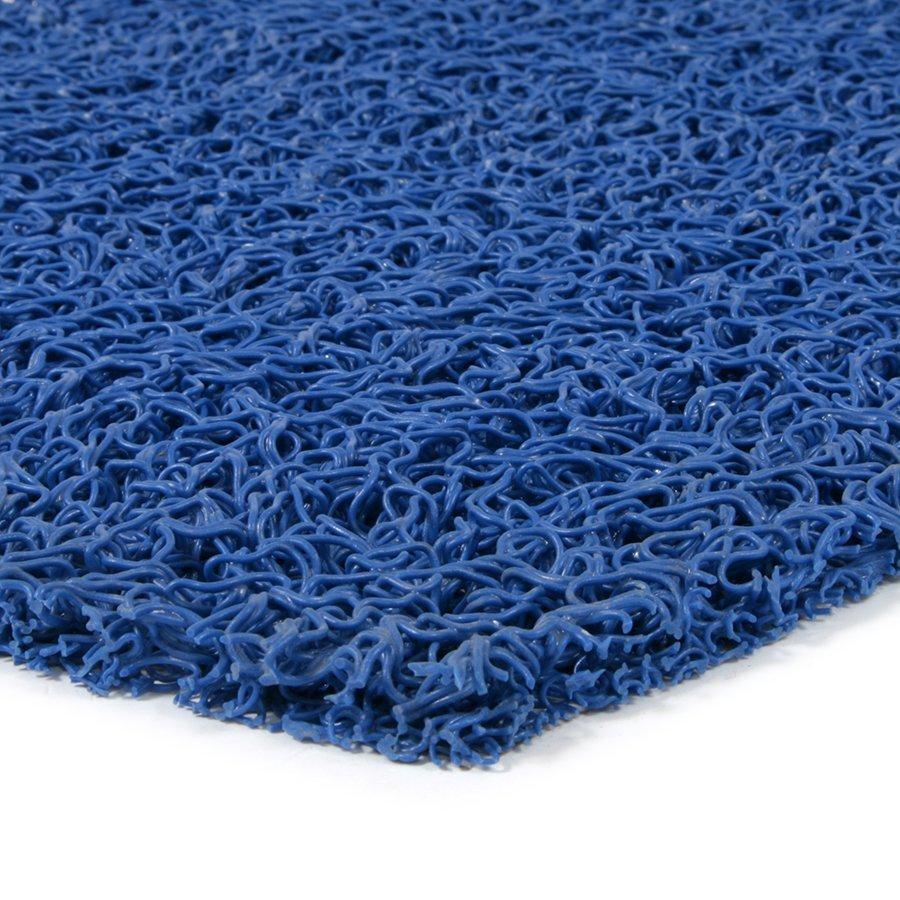 Modrá vinylová protiskluzová metrážová sprchová rohož Spaghetti, FLOMAT - délka 1 cm, šířka 120 cm a výška 1,2 cm