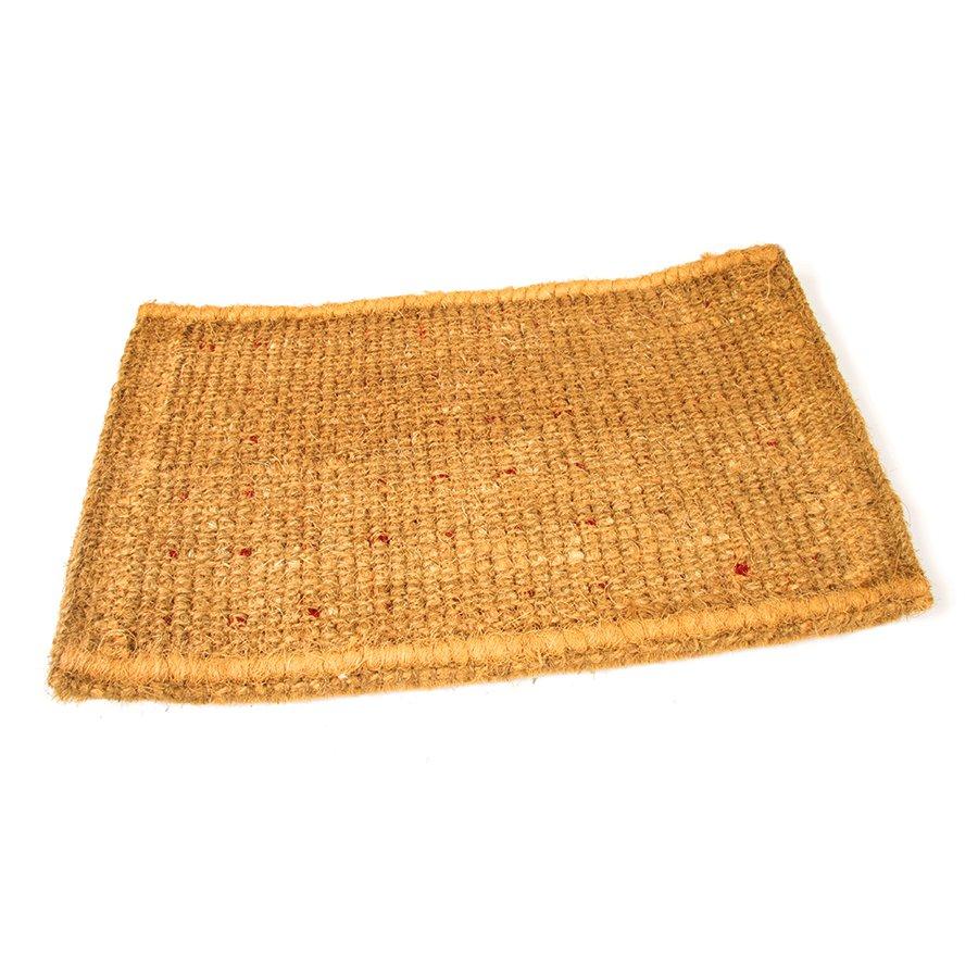 Kokosová vstupní venkovní čistící rohož Rectangles - Deco, FLOMA - délka 45 cm, šířka 75 cm a výška 4,7 cm