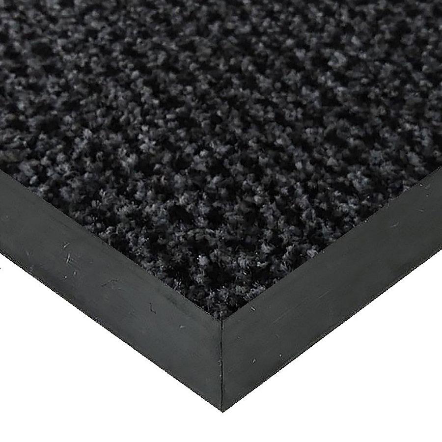 Šedá textilní vstupní vnitřní čistící rohož Alanis, FLOMAT - délka 1 cm, šířka 1 cm a výška 0,75 cm