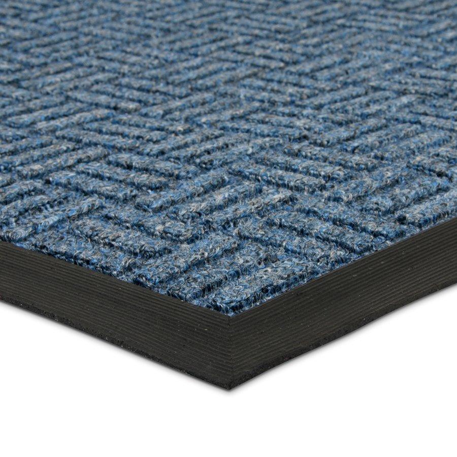 Modrá textilní vstupní venkovní čistící rohož Criss Cross, FLOMA - délka 45 cm, šířka 75 cm a výška 1 cm