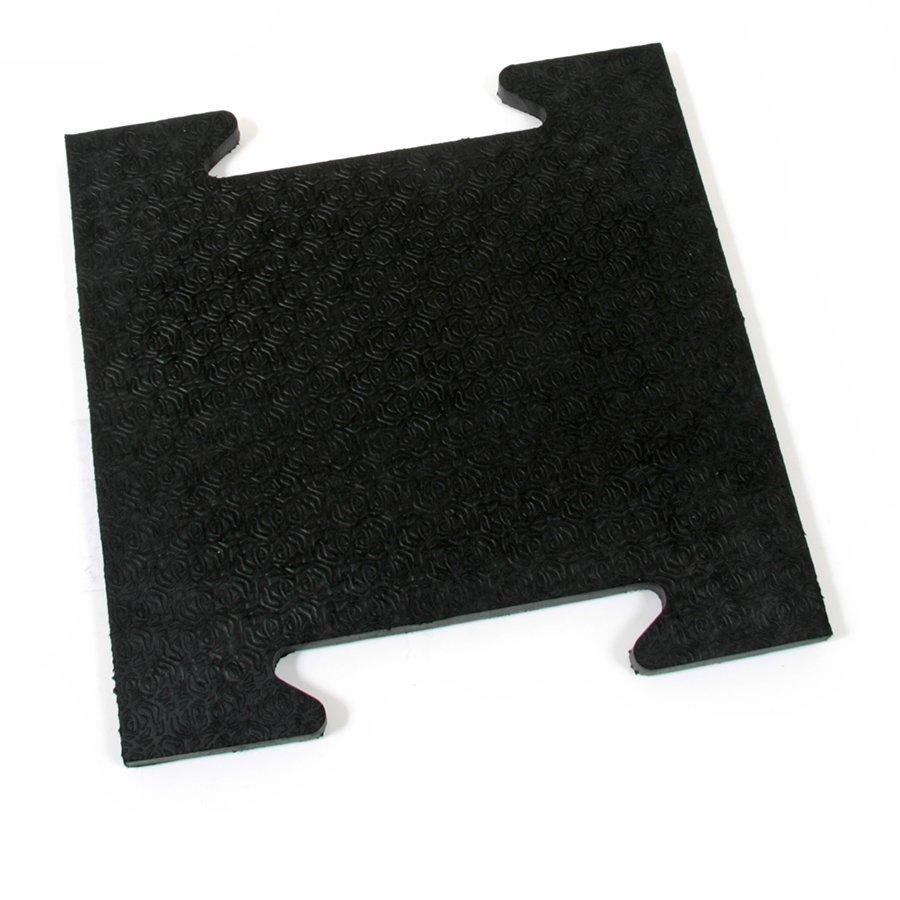Gumová modulární zátěžová rohož Horse Tile, FLOMAT - délka 39 cm, šířka 39 cm a výška 2,5 cm
