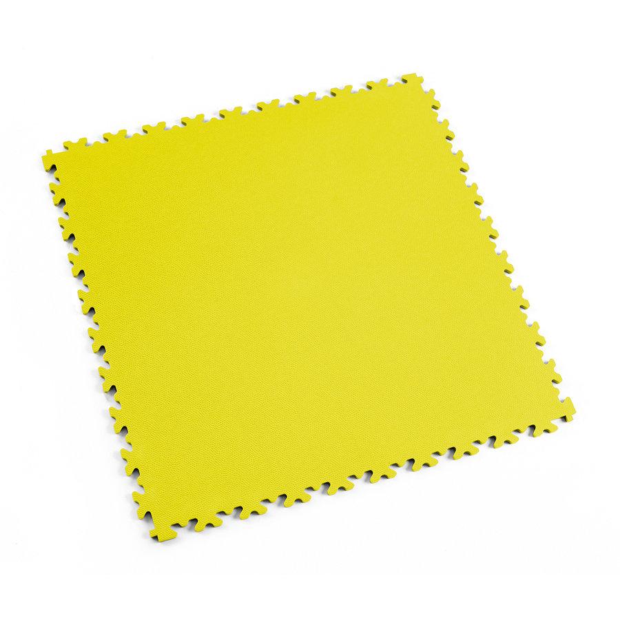 Žlutá plastová vinylová dlaždice Light 2060 (kůže), Fortelock - délka 51 cm, šířka 51 cm a výška 0,7 cm