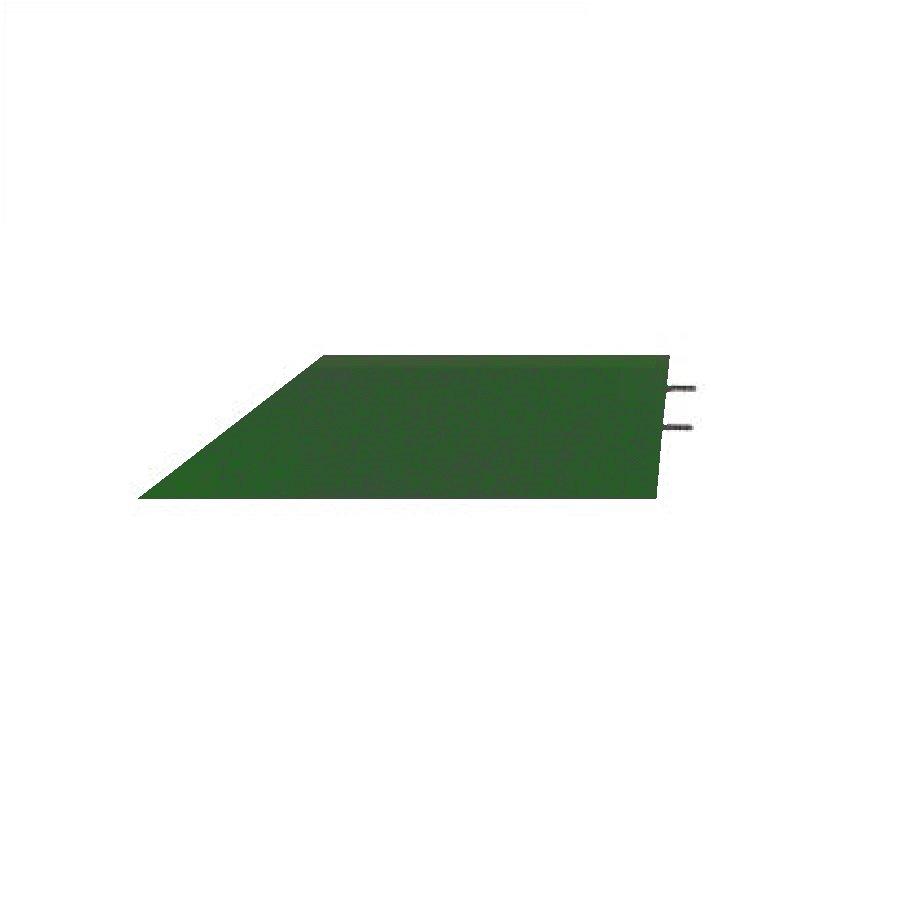 Zelený pravý nájezd (roh) pro gumové dlaždice - délka 75 cm, šířka 30 cm a výška 6,5 cm