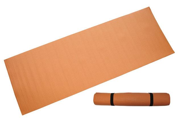 Oranžová gymnastická podložka - délka 173 cm, šířka 61 cm a výška 0,4 cm