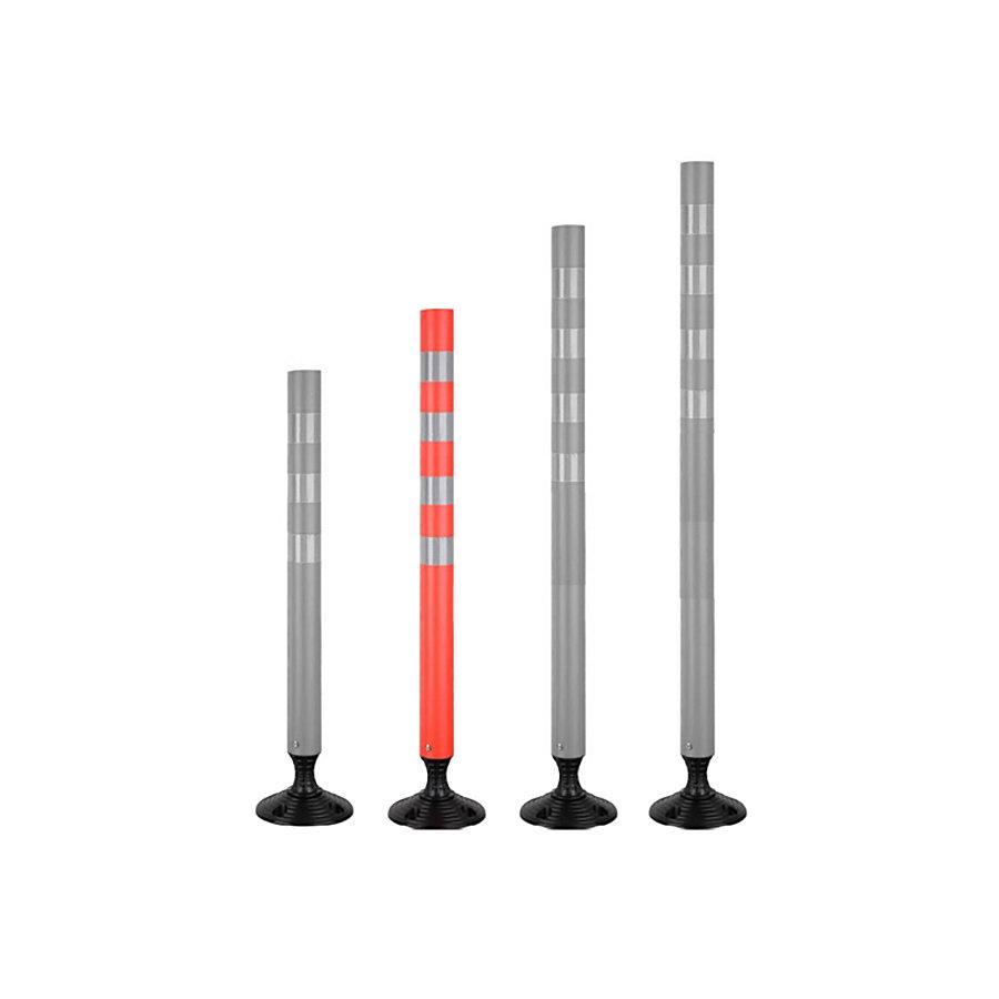 Oranžový plastový samonarovnávací reflexní dopravní sloupek - průměr 7 cm a výška 100 cm