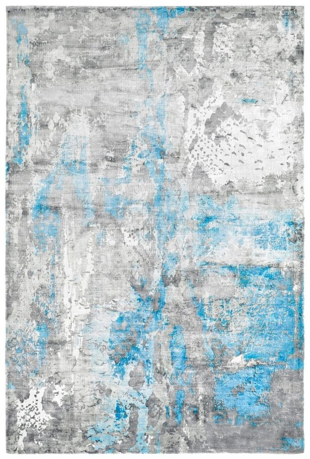 Modrý moderní kusový koberec Taste of Obsession - délka 150 cm a šířka 80 cm