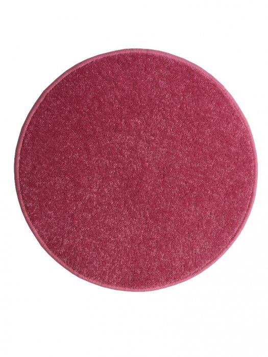 Růžový kusový kulatý koberec Eton