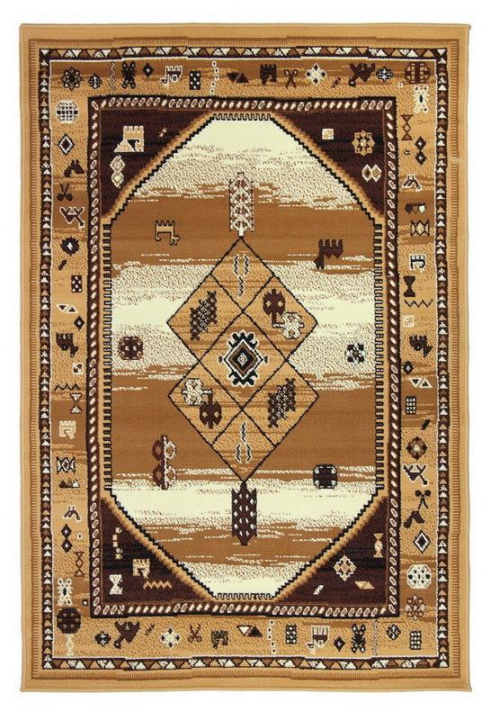 Béžový kusový orientální koberec Teheran-T - délka 150 cm a šířka 80 cm