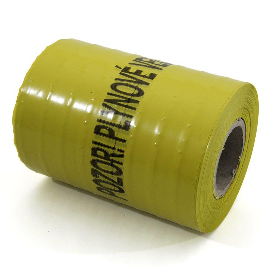 Žlutá výkopová páska - délka 250 m a šířka 22 cm