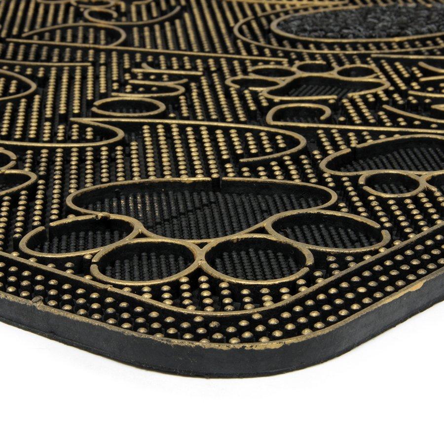 Textilní gumová čistící venkovní vstupní rohož Wipe Your Paws, FLOMA - délka 45 cm, šířka 75 cm a výška 1 cm