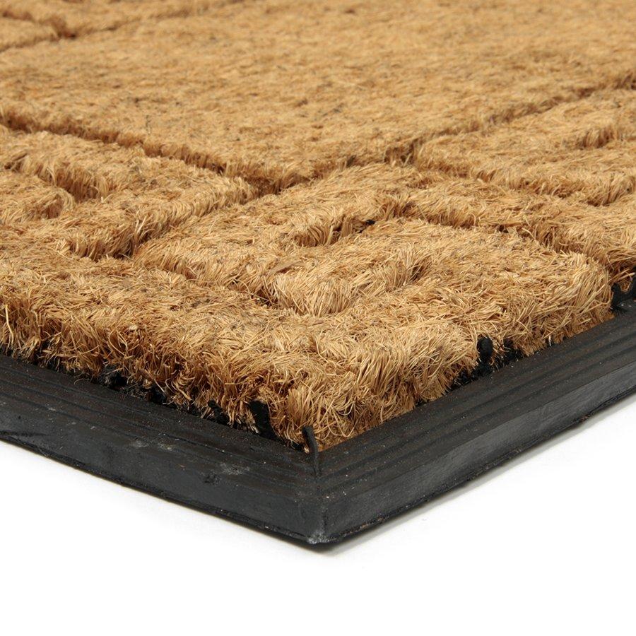 Kokosová čistící venkovní vstupní rohož FLOMA Rectangle - Deco - délka 45 cm, šířka 75 cm a výška 2,3 cm