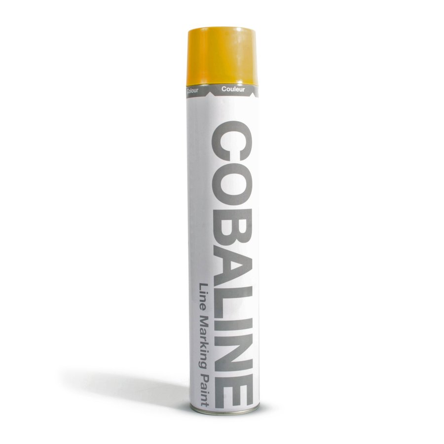 Žlutá rychleschnoucí permanentní barva ve spreji - objem 750 ml
