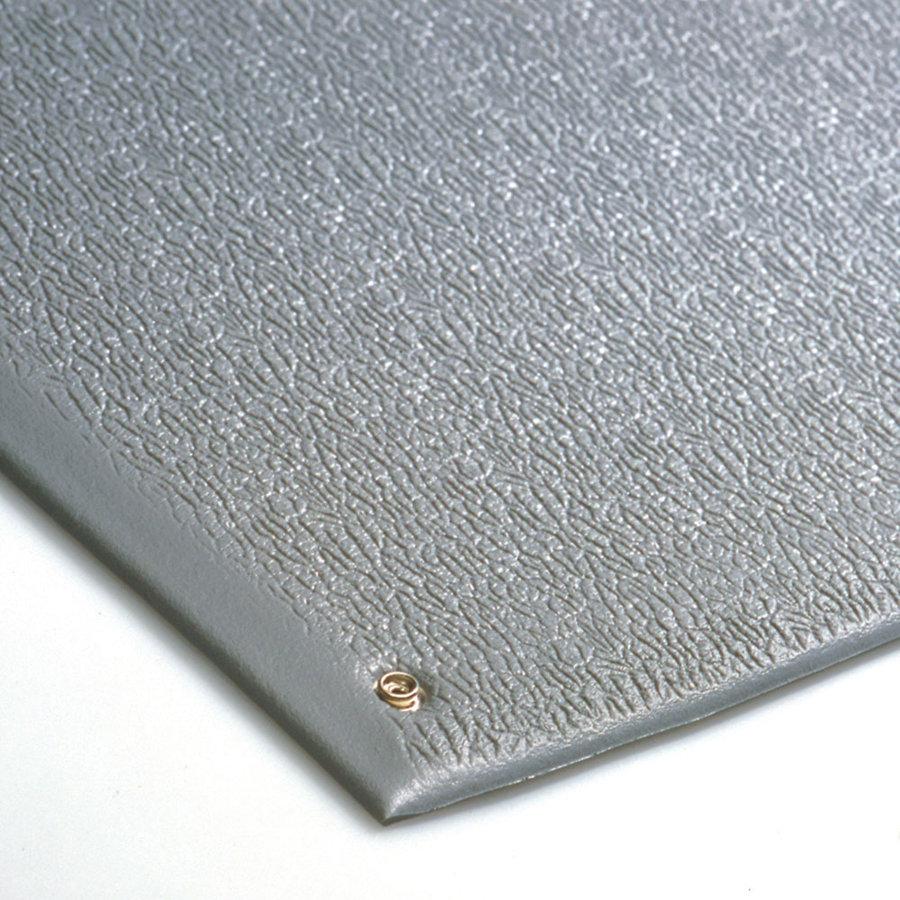 Šedá antistatická ESD protiúnavová průmyslová rohož - výška 0,9 cm