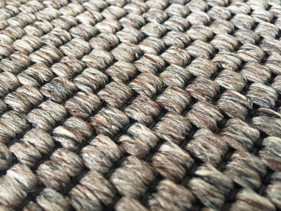 Hnědý metrážový koberec Nature - šířka 400 cm
