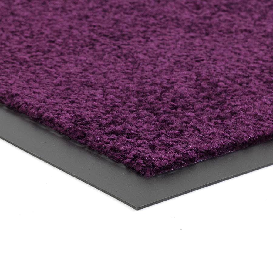 Fialová čistící vnitřní pratelná vstupní rohož FLOMA Twister - výška 0,8 cm