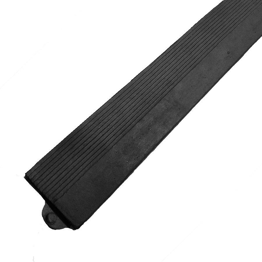 """Černá gumová náběhová hrana """"samice"""" pro rohož Diamond Plate Tile - délka 98,5 cm a šířka 7,5 cm"""