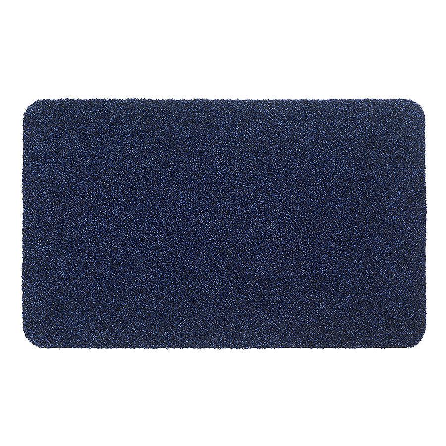 Modrá metrážová čistící vnitřní vstupní pratelná rohož Aqua Luxe, FLOMA - délka 1 cm a výška 1,2 cm