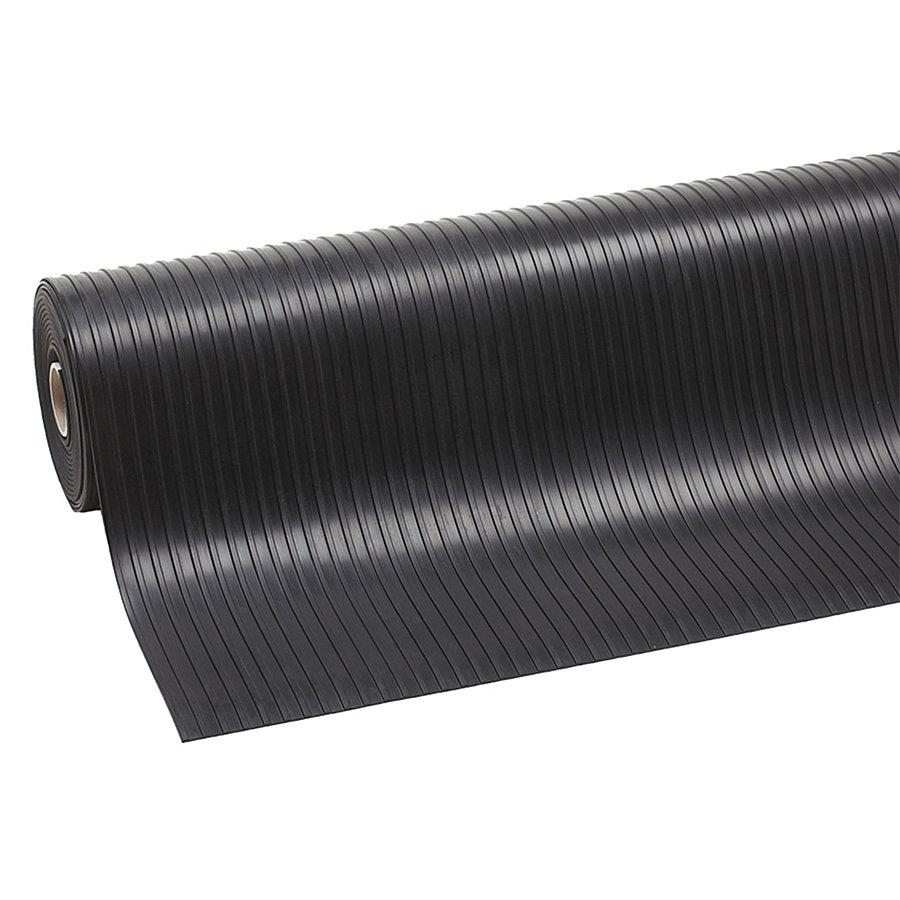 Černá průmyslová rohož Rib 'n' Roll, 02 - délka 10 m a výška 0,3 cm
