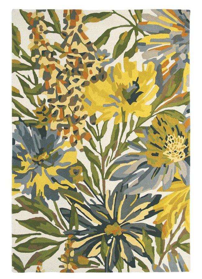 Žlutý kusový moderní koberec Floreale