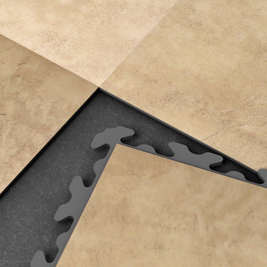 Béžová vinylová plastová dlaždice Fortelock Business Decor 2120 - délka 47,2 cm, šířka 47,2 cm a výška 0,65 cm