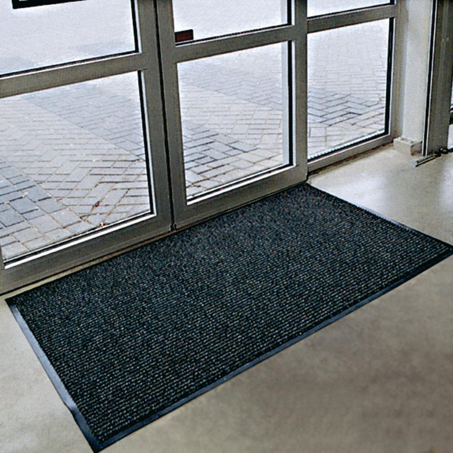 Antracitová textilní vstupní vnitřní čistící rohož Prisma - délka 120 cm, šířka 180 cm a výška 0,8 cm