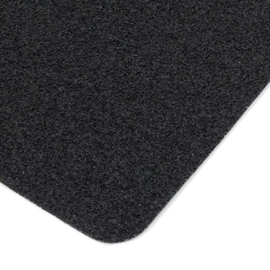 Černá korundová protiskluzová páska (dlaždice) FLOMA Super - délka 14 cm, šířka 14 cm a tloušťka 1 mm