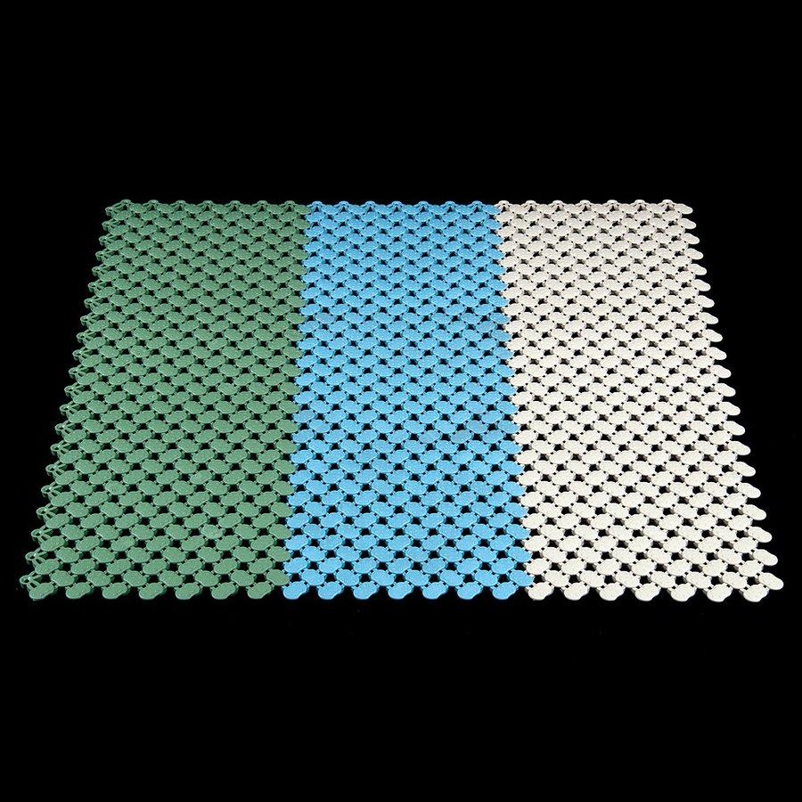 Modrá modulární bazénová rohož FLOMA - délka 20 cm, šířka 20 cm a výška 0,8 cm