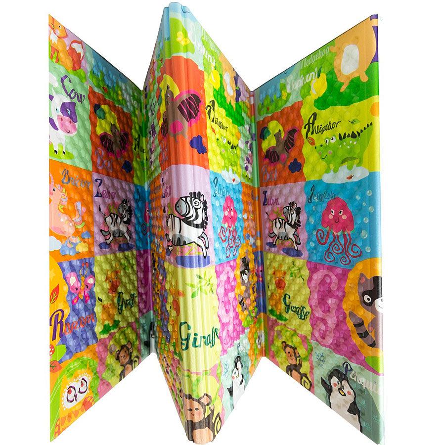 Dětská skládací pěnová hrací podložka Pexeso, Casmatino - délka 200 cm, šířka 140 cm a výška 1 cm