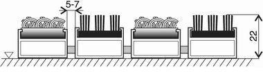 Textilní hliníková kartáčová vnitřní vstupní rohož Alu Extra, FLOMA - délka 100 cm, šířka 100 cm a výška 2,2 cm