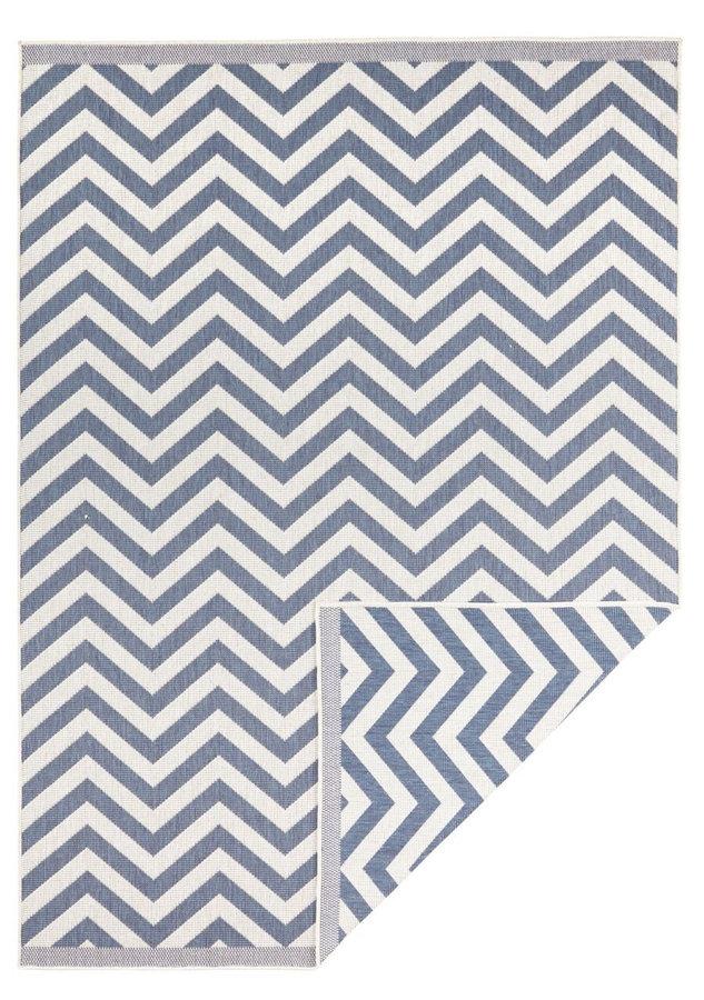 Modrý oboustranný moderní koberec Twin-Supreme, Palma