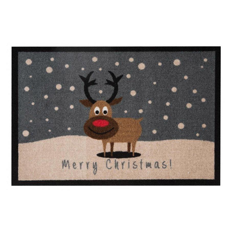 Vnitřní čistící vstupní rohož Merry Christmass - délka 64 cm, šířka 45 cm a výška 0,7 cm