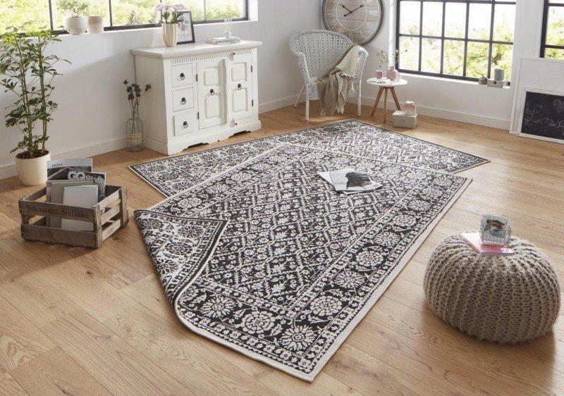 Černý kusový orientální koberec Twin-Wendeteppiche