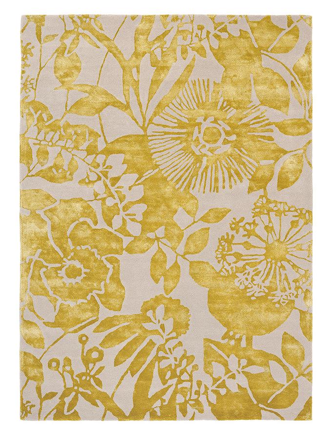 Zlatý kusový moderní koberec Coquette