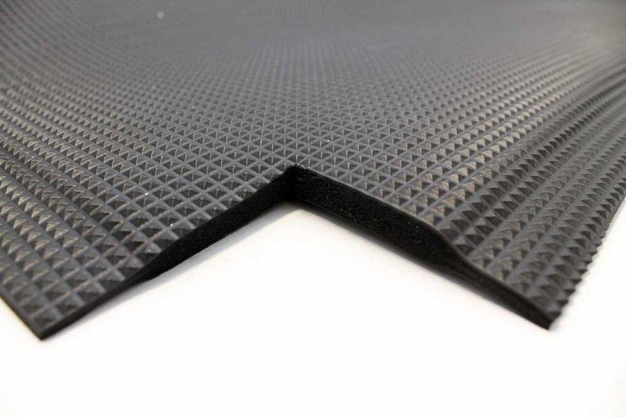 Černá olejivzdorná protiúnavová průmyslová rohož - délka 150 cm, šířka 90 cm a výška 1 cm