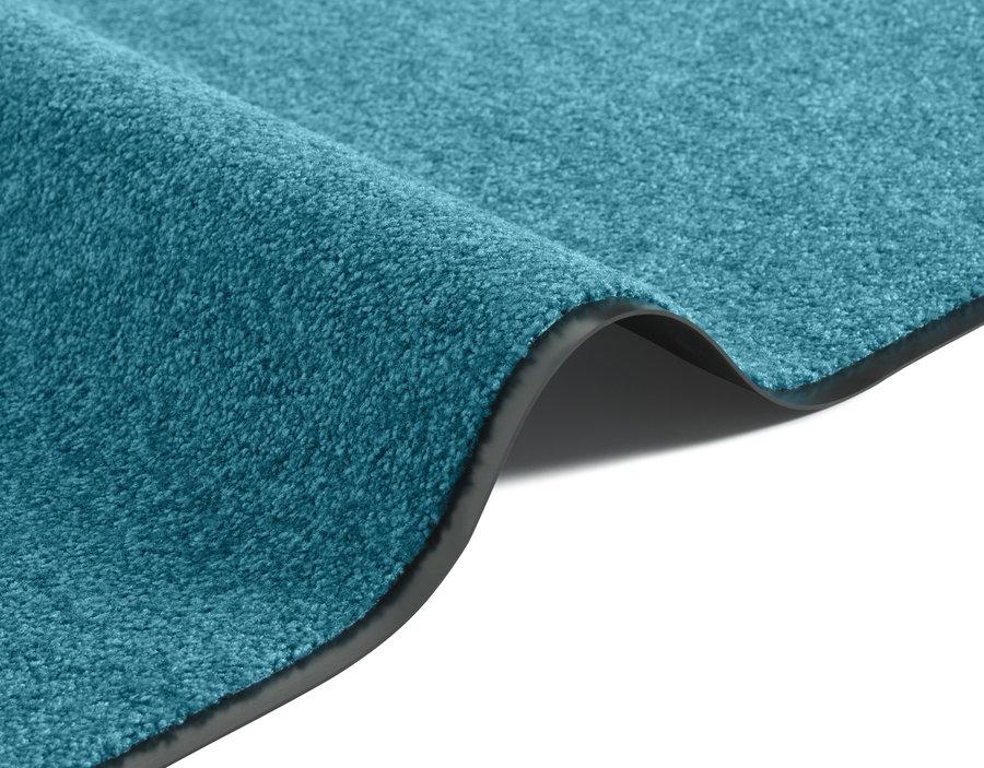 Modrý kusový koberec Wash & Clean