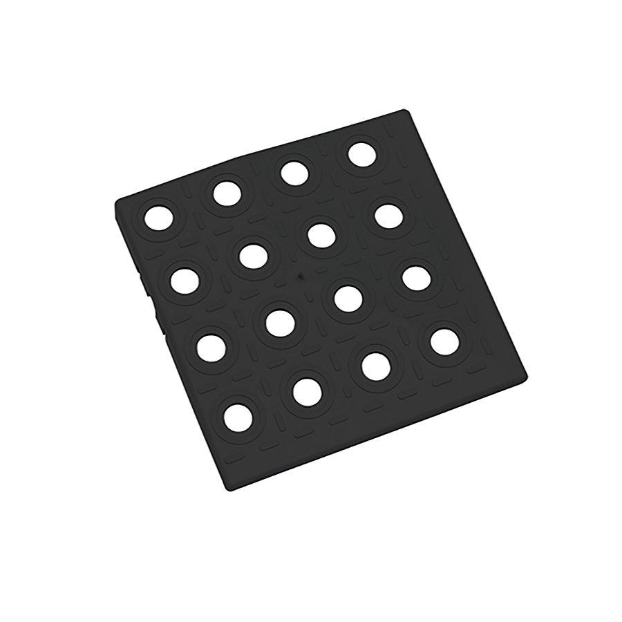 Černý plastový roh AvaTile AT-HRD - délka 13,7 cm, šířka 13,7 cm a výška 1,6 cm