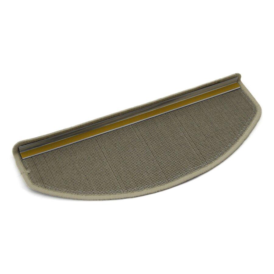 Béžový kobercový půlkruhový nášlap na schody Paris - délka 25 cm a šířka 65 cm