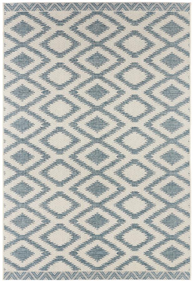 Modrý kusový moderní koberec Botany