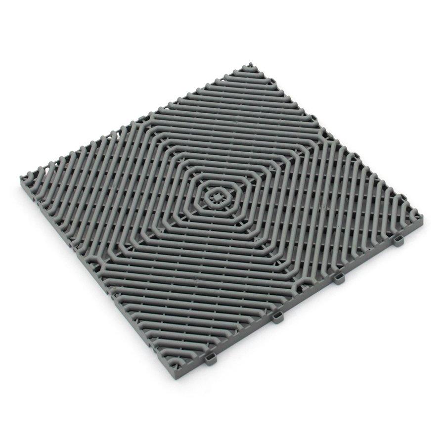 Šedá plastová terasová dlaždice Linea Rombo - délka 39,5 cm, šířka 39,5 cm a výška 1,7 cm