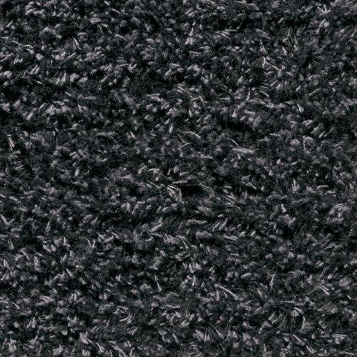 Antracitová bavlněná textilní pratelná vstupní vnitřní čistící rohož - délka 60 cm, šířka 100 cm a výška 0,8 cm