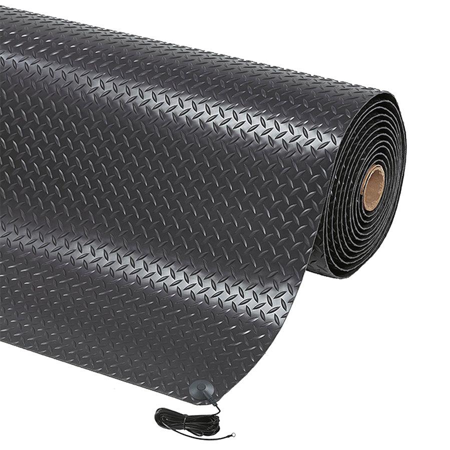 Černá ESD protiskluzová rohož Diamond Stat - výška 1,4 cm