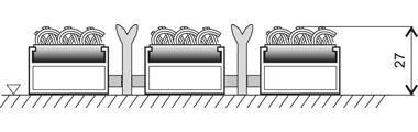 Textilní hliníková kartáčová vnitřní vstupní rohož Alu Extra, FLOMA - délka 100 cm, šířka 100 cm a výška 2,7 cm