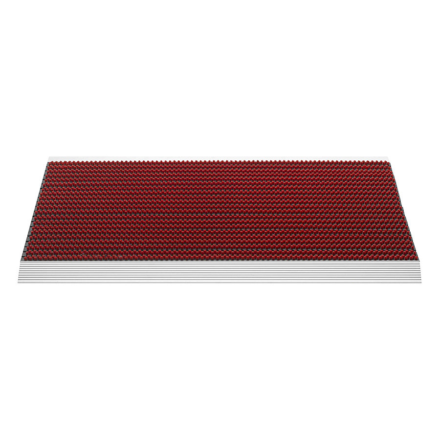 Červená venkovní čistící kartáčová rohož Outline, FLOMA - délka 50 cm, šířka 80 cm a výška 2,2 cm