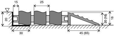Hliníková gumová vstupní venkovní rohož Alu Wave, FLOMA - délka 100 cm, šířka 100 cm a výška 1,8 cm