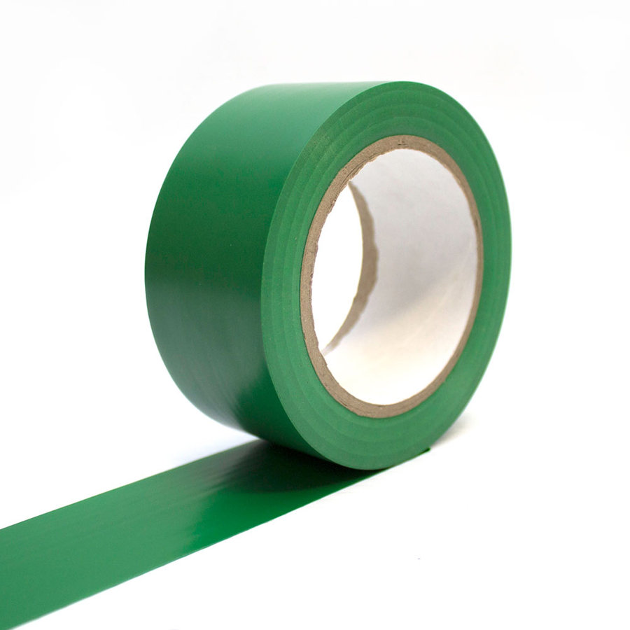 Zelená vyznačovací samolepící podlahová páska - délka 33 m a šířka 5 cm