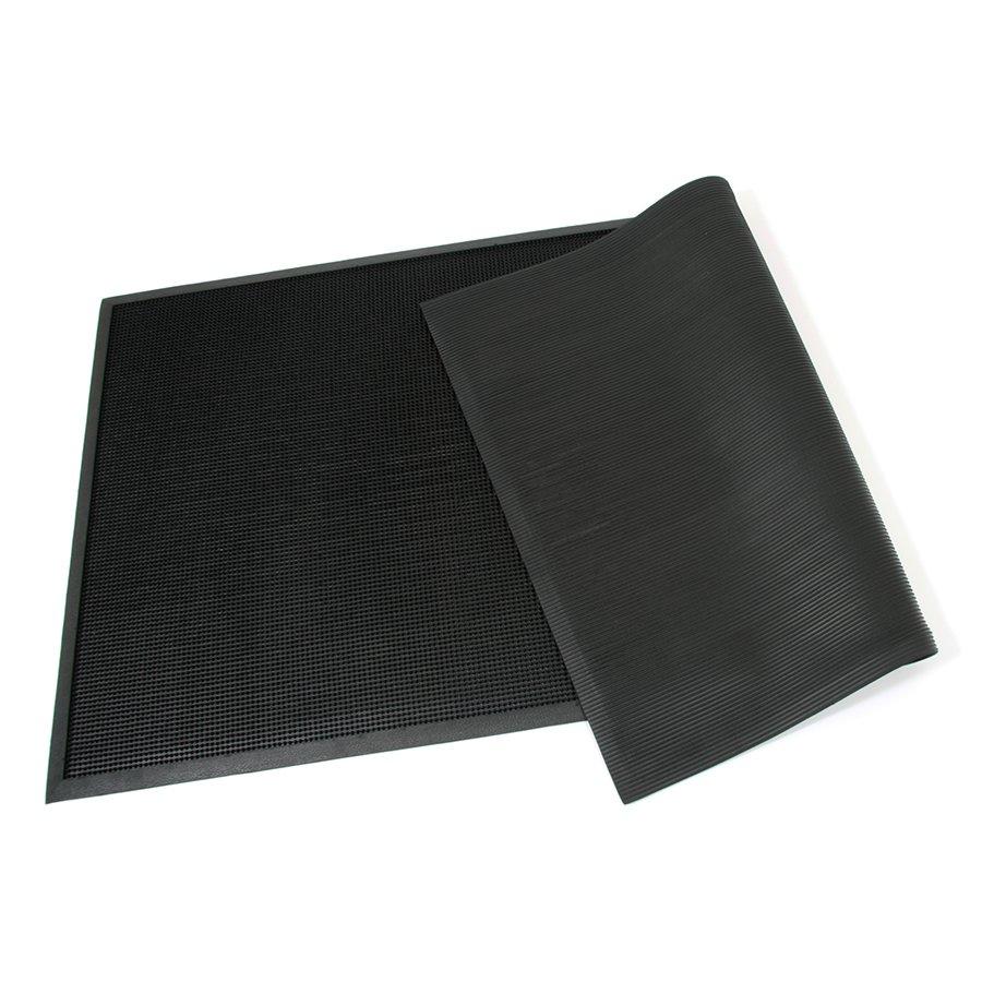 Gumová venkovní čistící vstupní rohož FLOMA Rubber Brush - délka 90 cm, šířka 180 cm a výška 1,2 cm