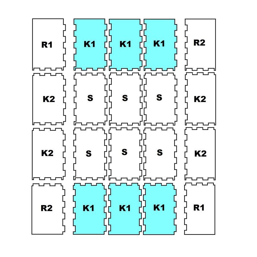 """Pryžová stájová protiskluzová modulární deska """"KRAJ-K1"""" FLOMA - délka 197 cm, šířka 118,5 cm a výška 1,6 cm"""