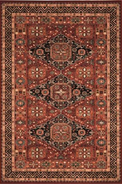 Červený orientální kusový koberec Kashqai - délka 340 cm a šířka 240 cm