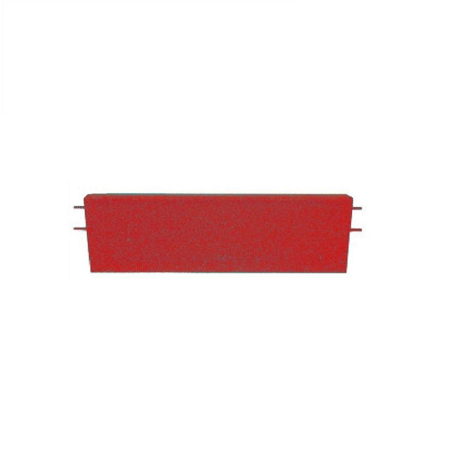 Červený rovný nájezd pro gumové dlaždice - délka 75 cm, šířka 30 cm a výška 5 cm