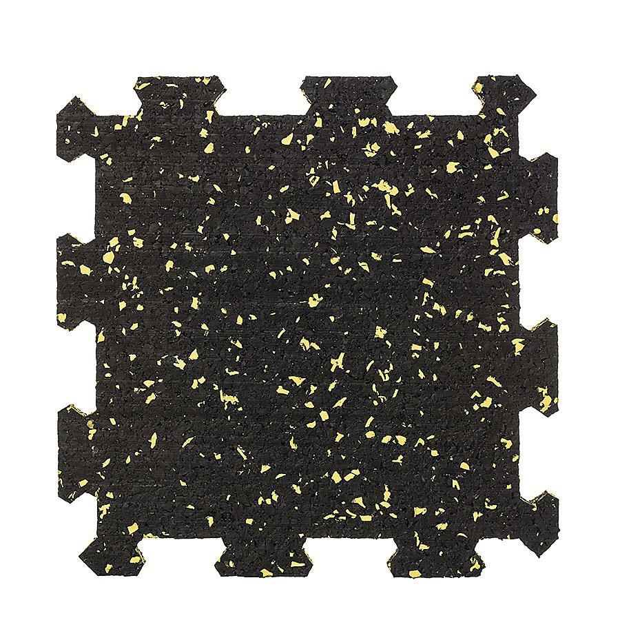 Různobarevná pryžová (10% EPDM PREMIUM) modulární fitness deska (střed) SF1050 - délka 95,6 cm, šířka 95,6 cm a výška 1 cm